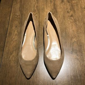 Pointed-toe flats - Beige